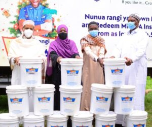Crown Paints Kenya Plc donating Ksh. 1m through its 'Crown Iftar' initiative to provide Iftar food support to vulnerable Muslim families.